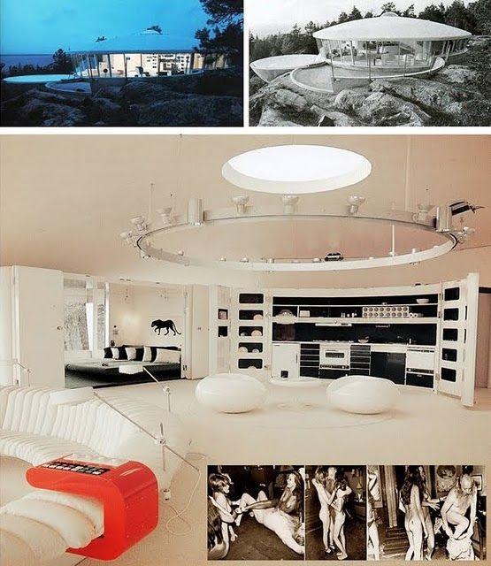 """Dome Home Interior Design: Pleasure Dome House """"Villa Spies"""" Designed In 1969 In"""