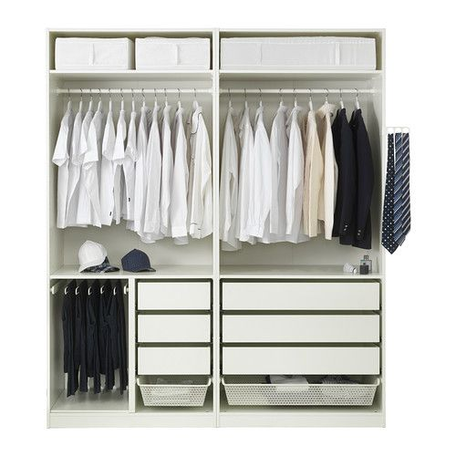 pax wardrobe white auli f rvik 200x66x236 cm schlafzimmer garderoben und schr nkchen. Black Bedroom Furniture Sets. Home Design Ideas