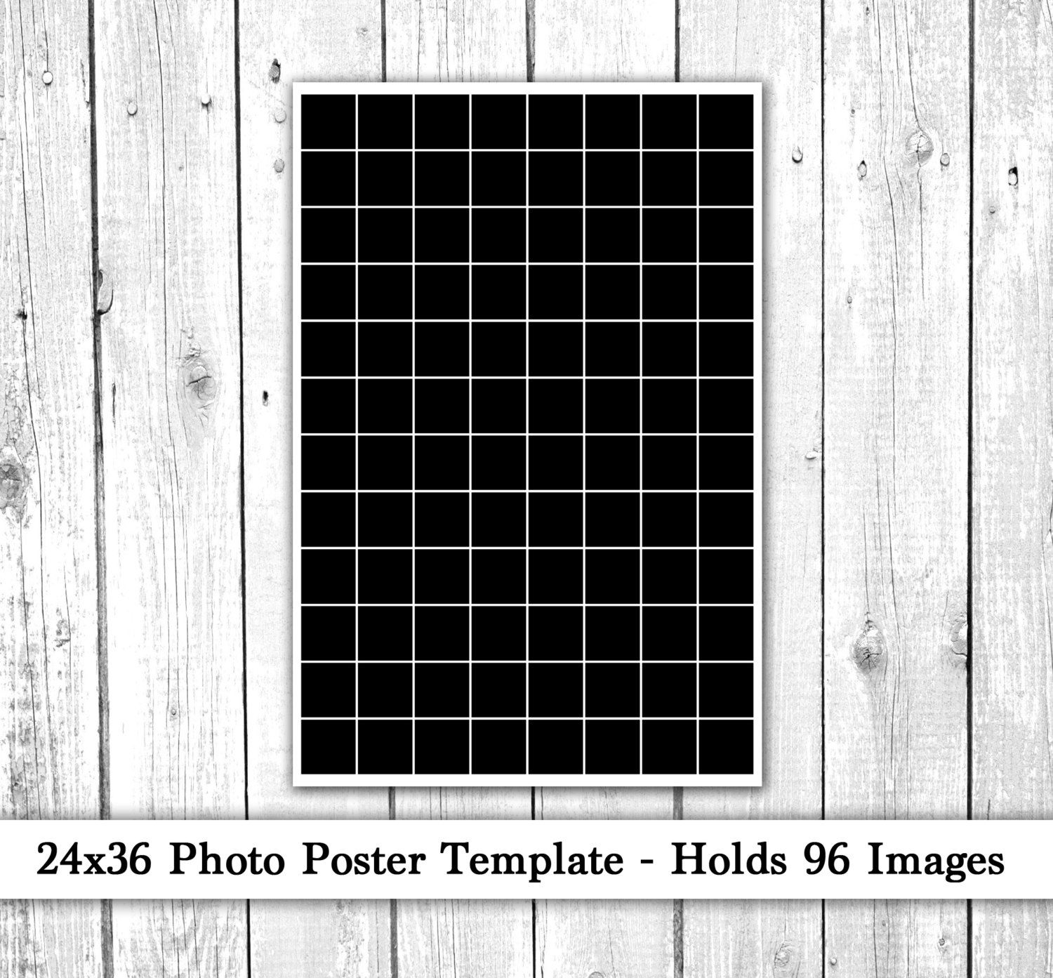 24x36 Photo Template Photo Collage Poster Template Photography