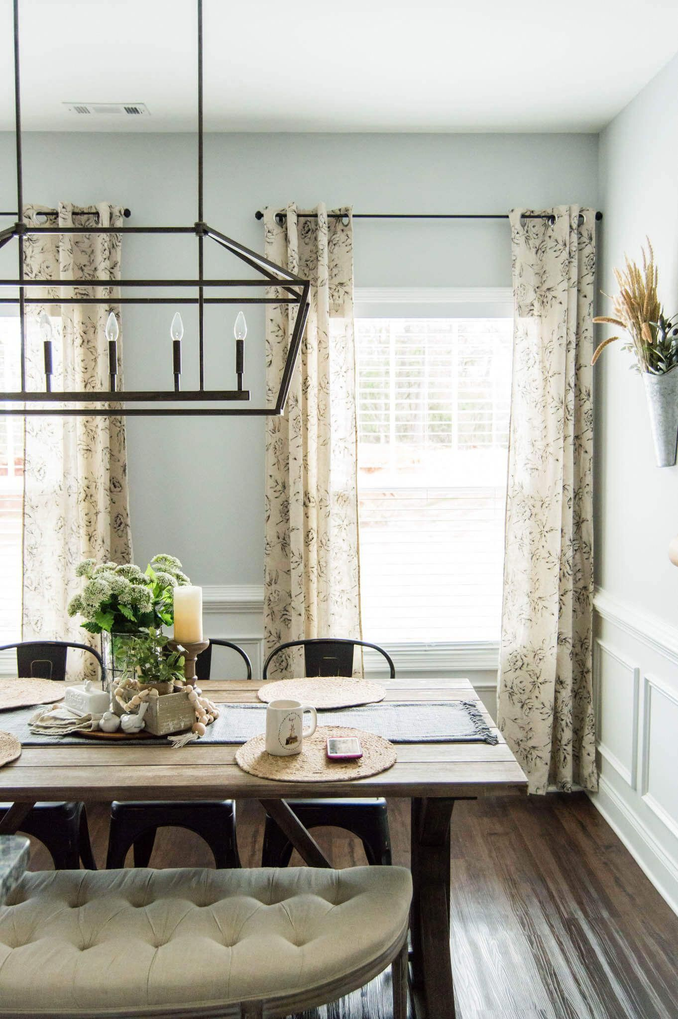 The Perfect Farmhouse Floral Curtains // My Top Curtain ... on Farmhouse Curtain Ideas  id=67082