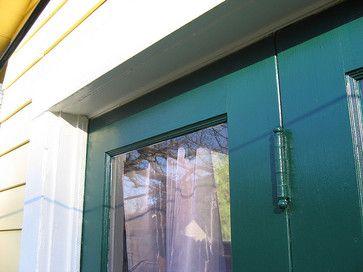 French Doors In Ben Moore Chrome Green