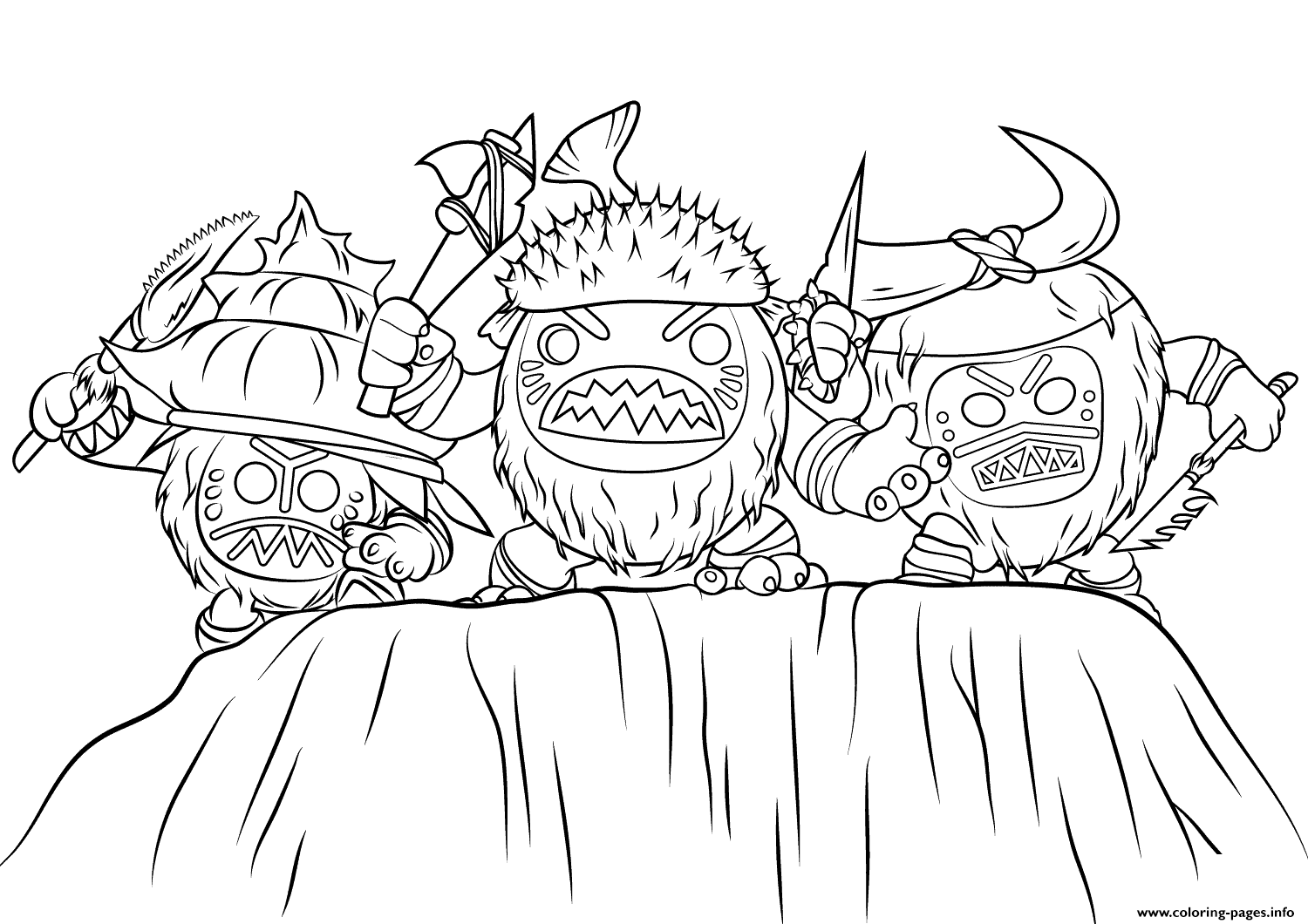 Print kakamora from moana disney coloring pages oceania