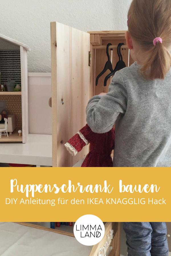 puppenschrank selber bauen aus ikea box mit limmaland basteln mit kindern pinterest. Black Bedroom Furniture Sets. Home Design Ideas