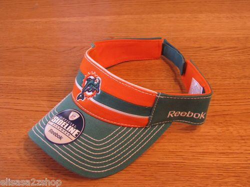 25bf47a1 Florida Miami Dolphins NFL cap visor hat green orange sideline ...