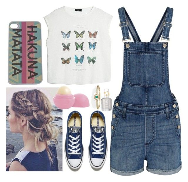 """""""Untitled #461"""" by freedom2095 ❤ liked on Polyvore featuring Madewell, Converse, Eos, MANGO, Sydney Evan and Essie"""