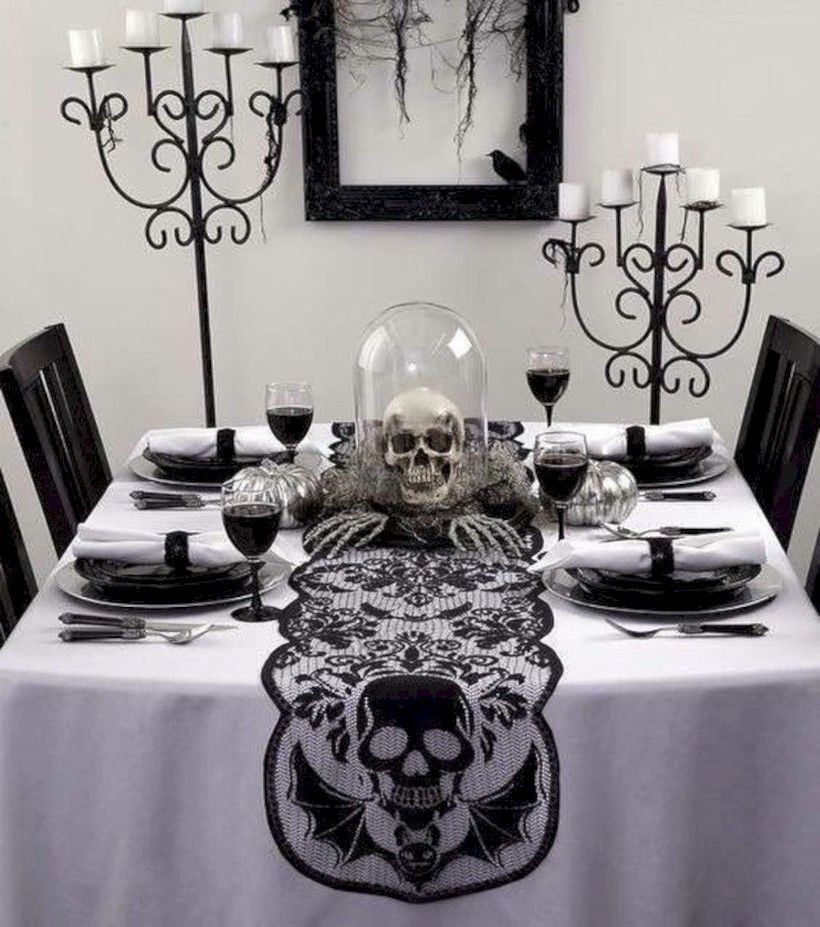 38 Adorable Halloween Table Decoration Ideas You Will Love - indoor halloween decoration ideas