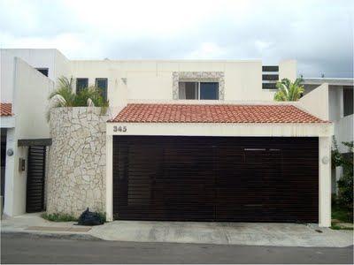 Casa con cochera casas de campo pinterest ideas para for Casas actuales modernas
