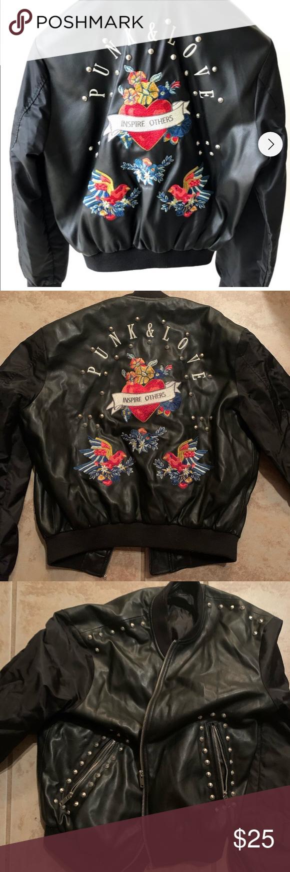 Zara Punk And Love Leather Bomber Jacket Leather Bomber Jacket Leather Bomber Bomber Jacket [ 1740 x 580 Pixel ]