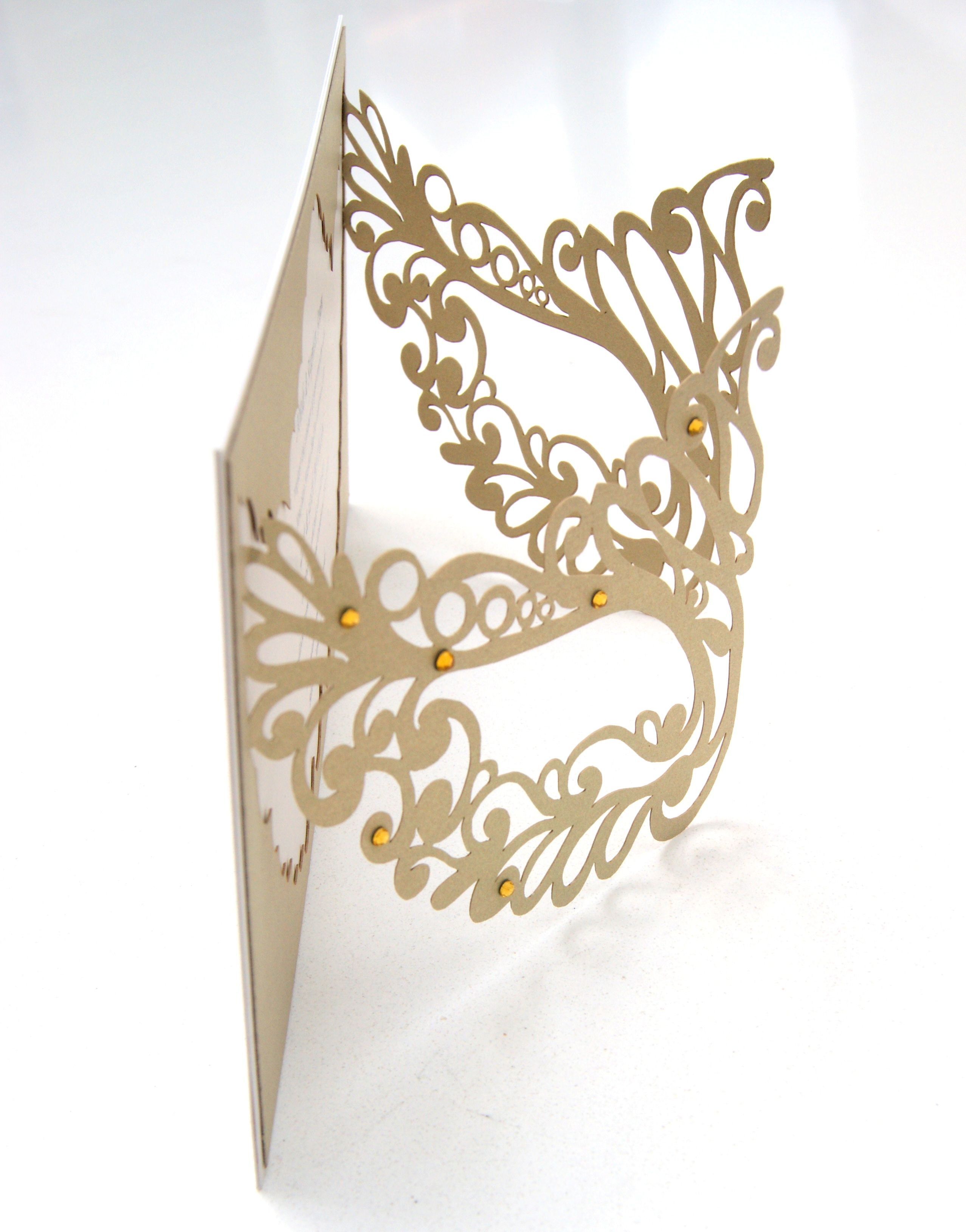 Mardi gras mask party invitation laser cut masquerade ball wedding – Mask Invitations Masquerade Party