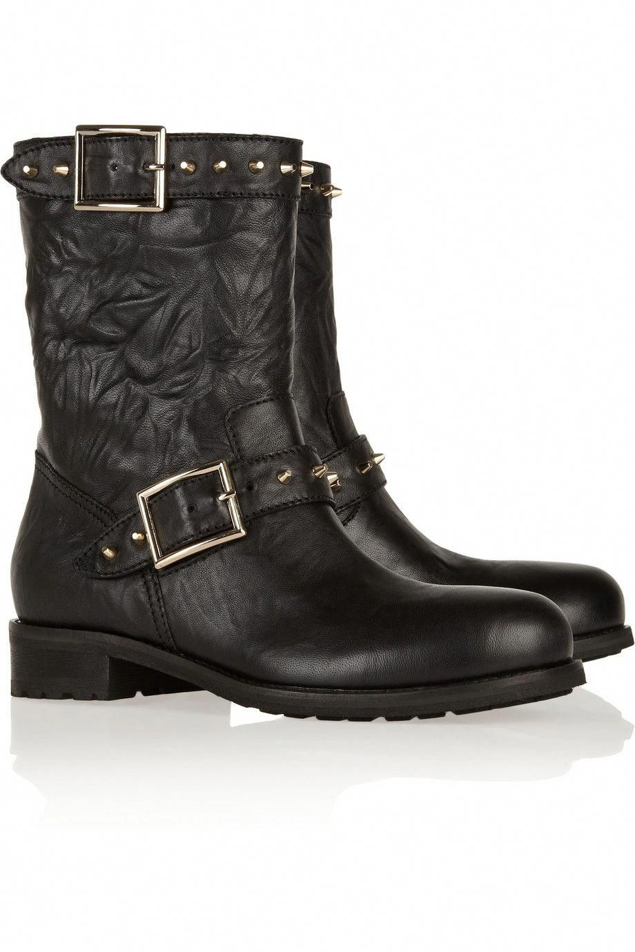 bf36e448d0aab Jimmy Choo | Dash studded leather biker boots | NET-A-PORTER.COM ...