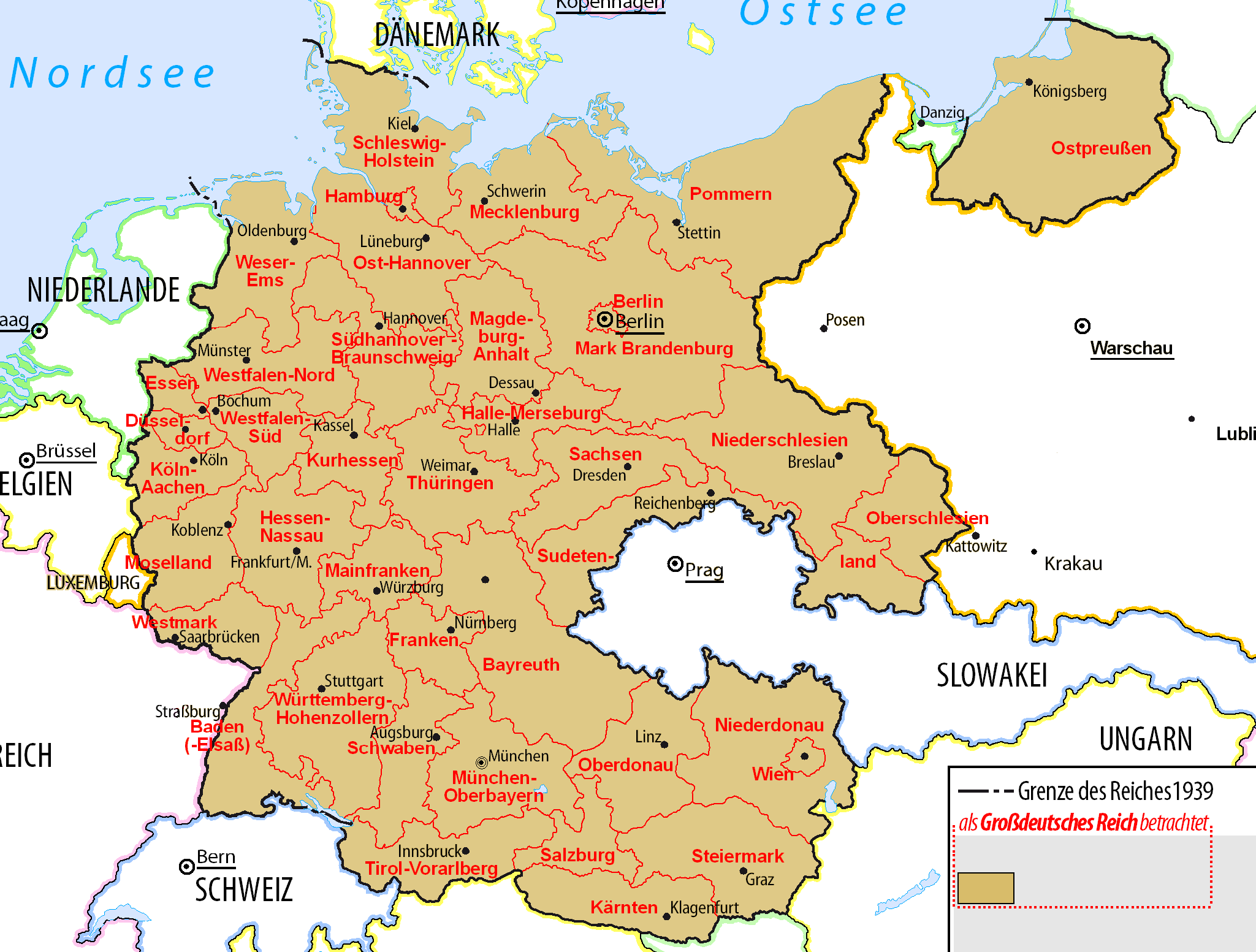 Administrative map of the third reich maps and flags pinterest administrative map of the third reich altavistaventures Images