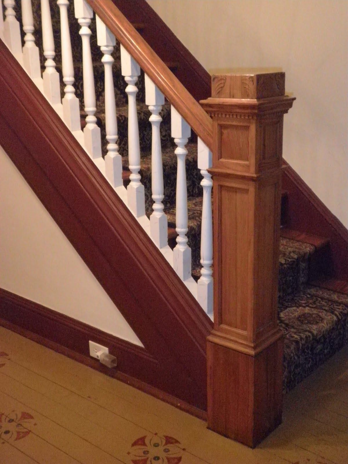 Thick Newel Post And Straight Stringer Stair Pics