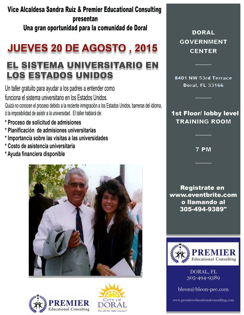 Free workshop on how the US College System works - in SPANISH!
