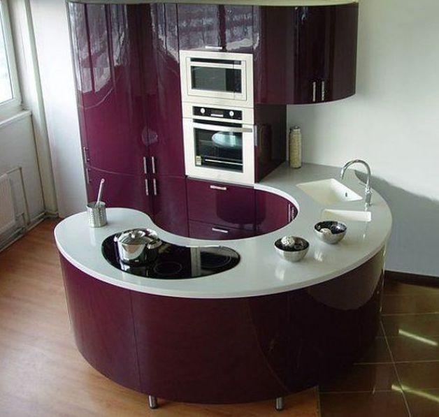 Ideas de decoración para espacios pequeños: mini cocina de diseño ...