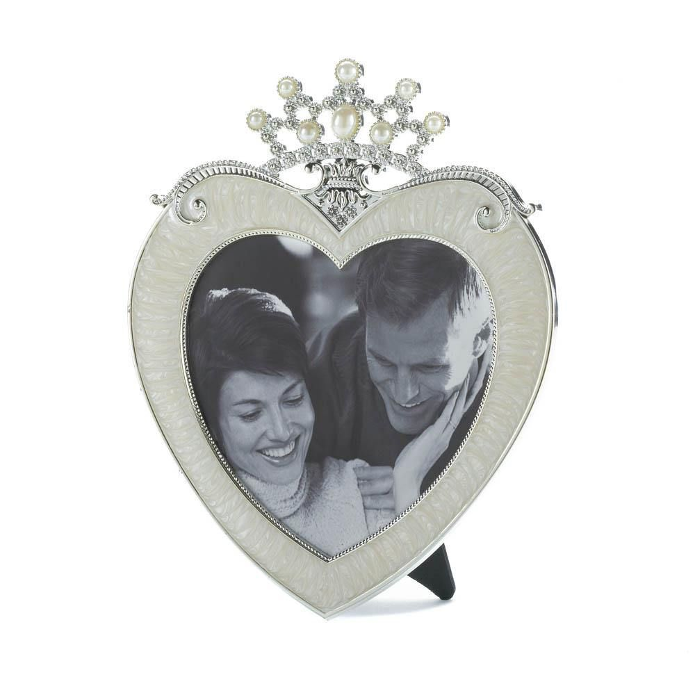 Cadre photo coeur couronne 5 X 5   – Products