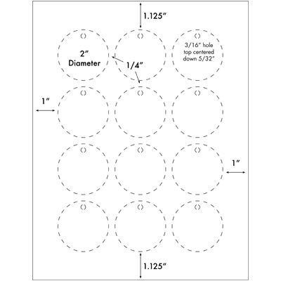 Burris Blank Printable Tag™ 12-up Circle Template for Microsoft - hang tag template
