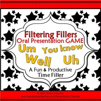 fillers oral presentation game teach pinterest teaching