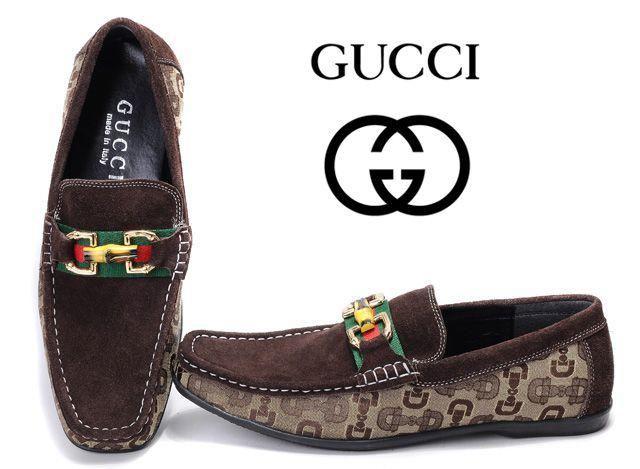 Zapatos Gucci Hombre AL37 Zapatos Urbano Gucci Hombre Sin Cordones Mezcla  De Colores Cuero y Finest