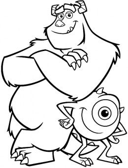 Disney Monster Inc Coloring Pages Раскраски дисней