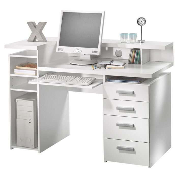 Wade Logan Thornbury Computer Desk White Computer Desk Computer Desk Design Office Computer Desk