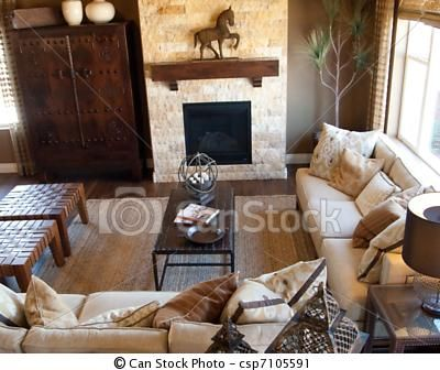 Western Living Room Benches For In Front Of The Fire Place And Love The  Horse!
