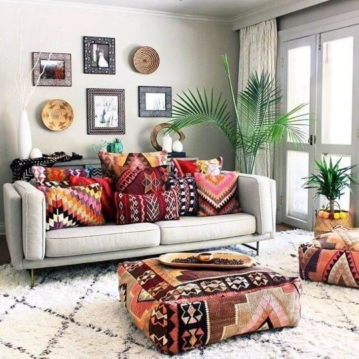 30+ Beautiful Rustic Bohemian Living Room Design Ideas images