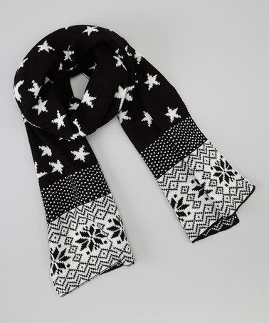 This Black & White Snowflakes Scarf by modern centers trade is perfect! #zulilyfinds