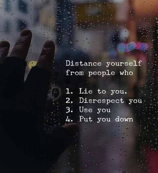 Positive Quotes : Distance yourself from people.. | quotes
