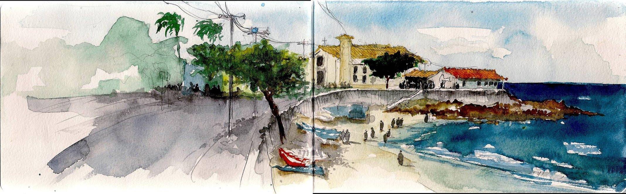 """André Lissonger Urban Sketchers """"Casa do Peso"""""""