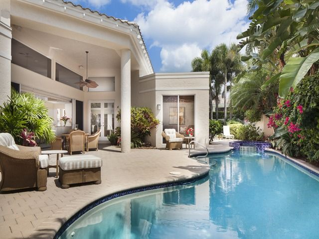 Marvelous Pool And Outdoor Living Room Pelican Bay Naples Florida Interior Design Ideas Inamawefileorg