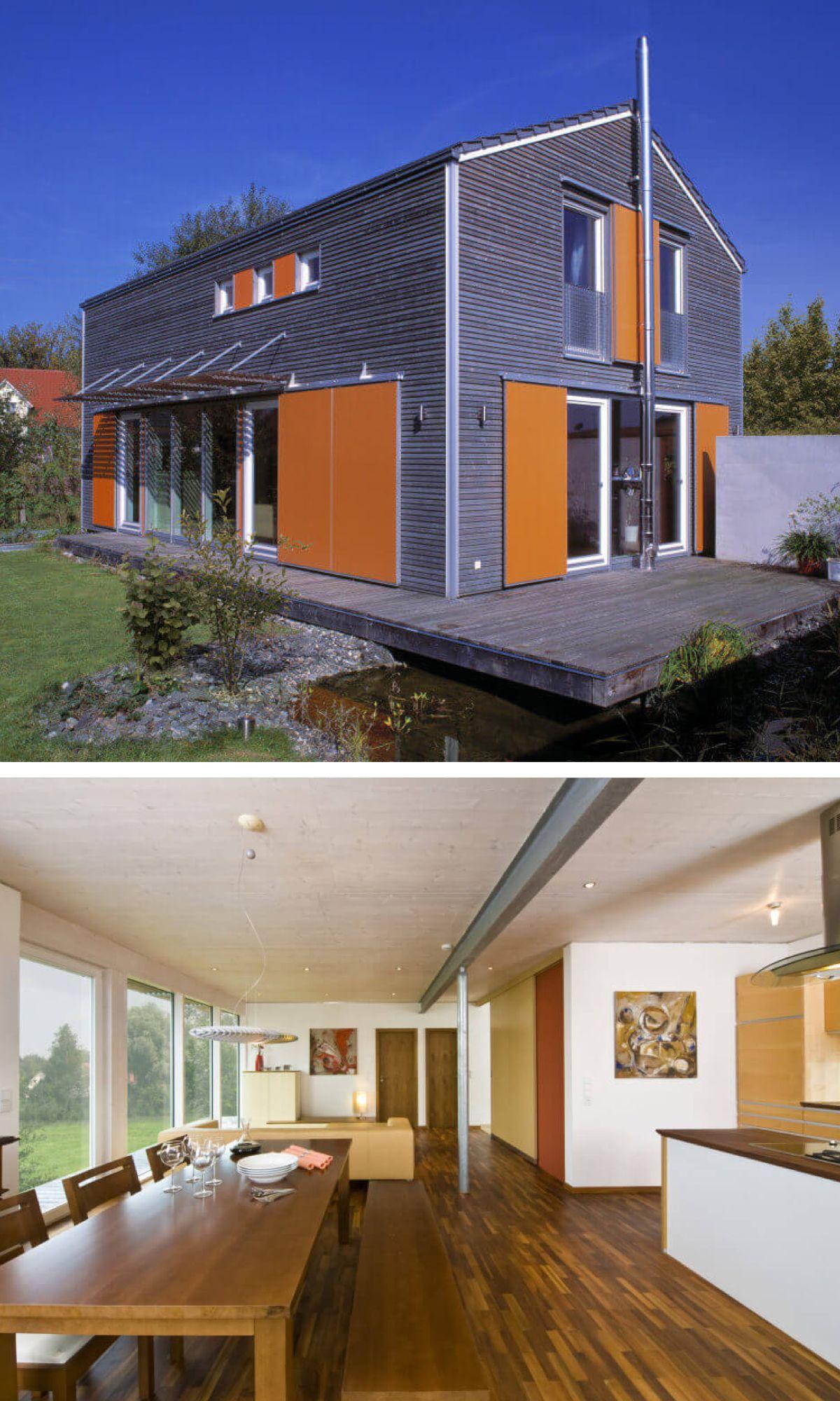 Einfamilienhaus Mit Moderner Giebel Architektur Schiebeläden