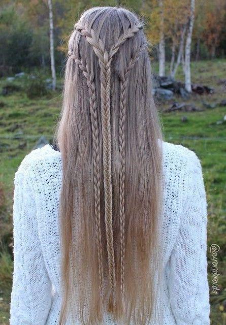 1 2 3 Elven Braids Frisuren Hubsche Frisuren Lange Haare