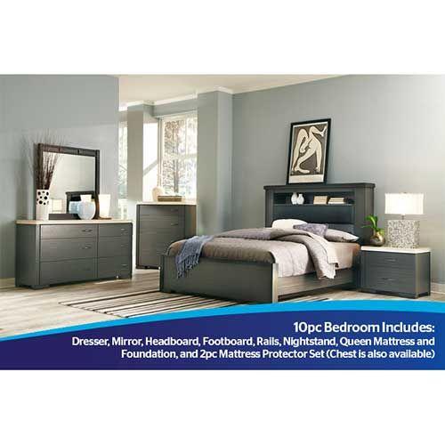 Ideaitalia Motivo 10-Piece Bedroom Group with Mattress Set   Ideas ...