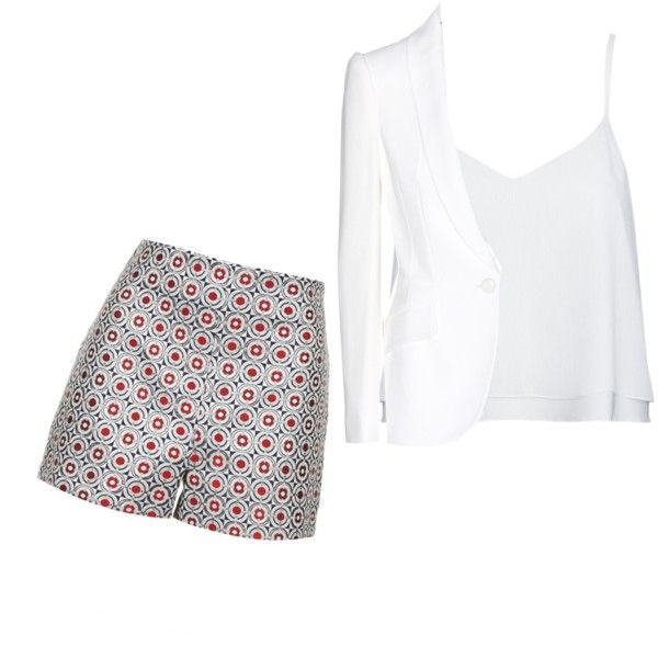 A fashion look from February 2015 featuring Alice + Olivia tops, Alexander McQueen blazers and Topshop shorts. Browse and shop related looks.