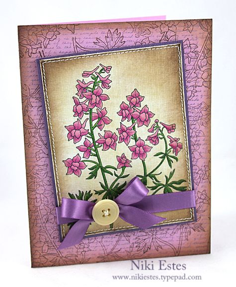 My Paper Creations: Year of Flowers: Larkspurs