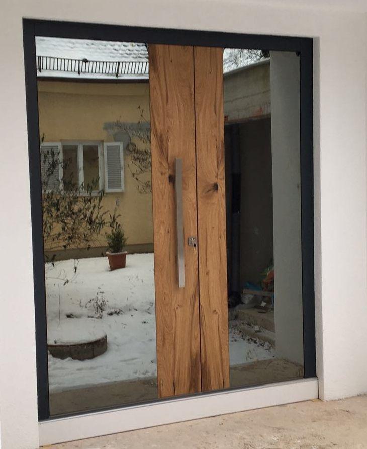Drzwi z serii Top Design Glass wg indywidualnego projektu klienta - design turen glas holz moderne