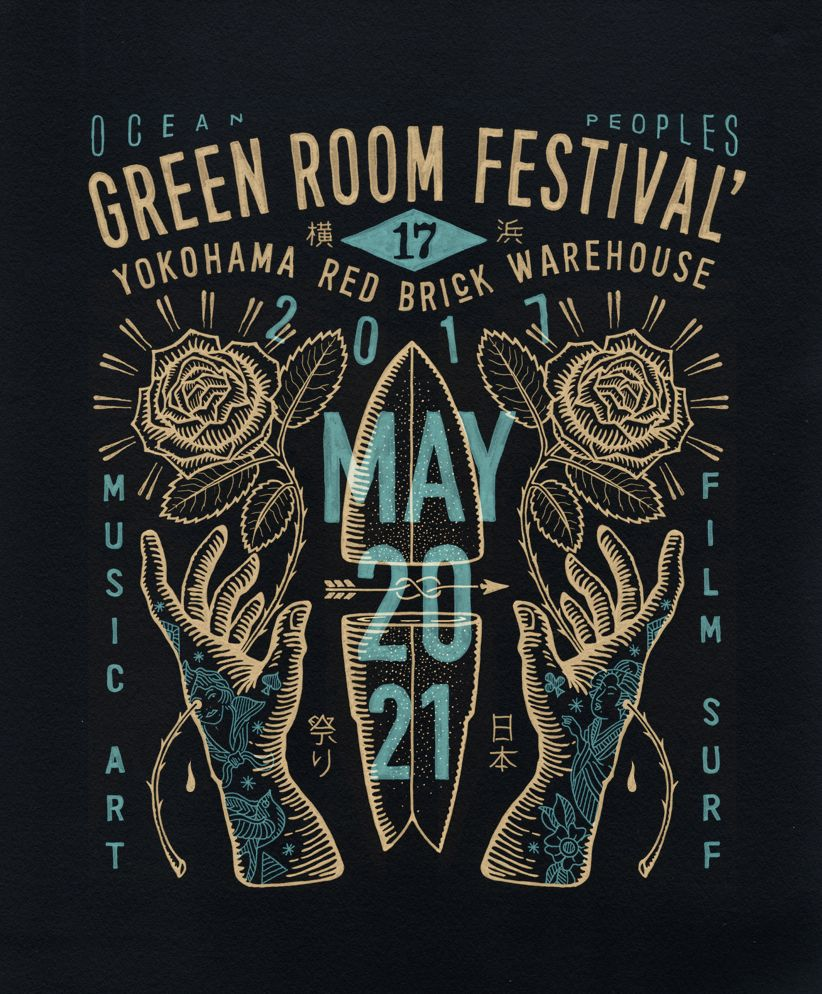 T shirt design inspiration typography - Greenroom Festival 2017 On Behance By Bmd Design Posterscreative Designlogo Inspirationletteringtypographyfestival Logosketchflyersfestivals