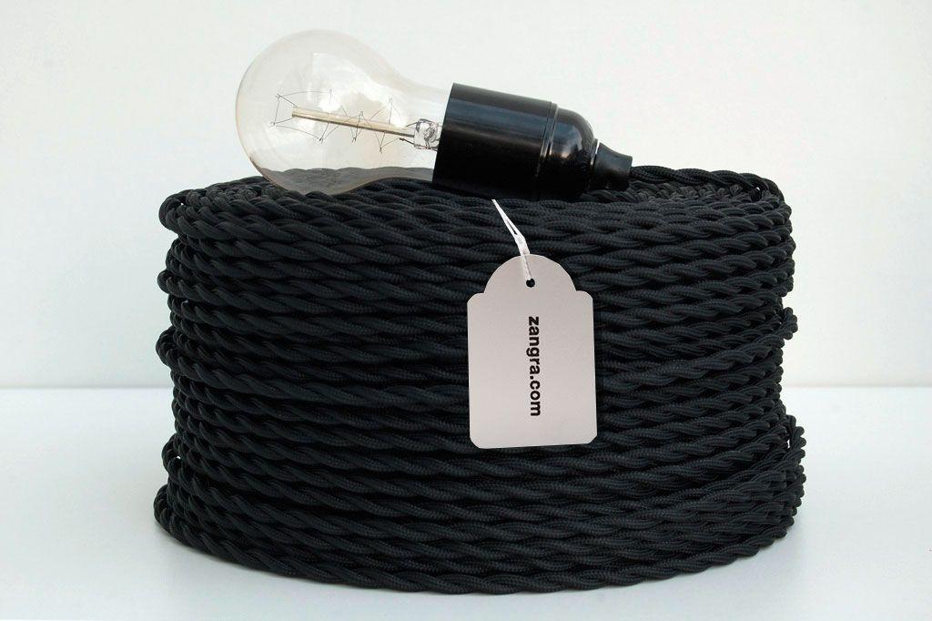 fil lectrique tress torsad noir idees cuisine pinterest fil lectrique tresser et. Black Bedroom Furniture Sets. Home Design Ideas