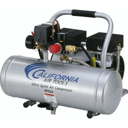 California Air Tools CAT-2010A 1 HP 2 Gallon Ultra Quiet Aluminum Tank Air Compressor, Multicolor