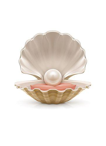 Pearl. Vector illustration | Illustrations pseudo-3d ...