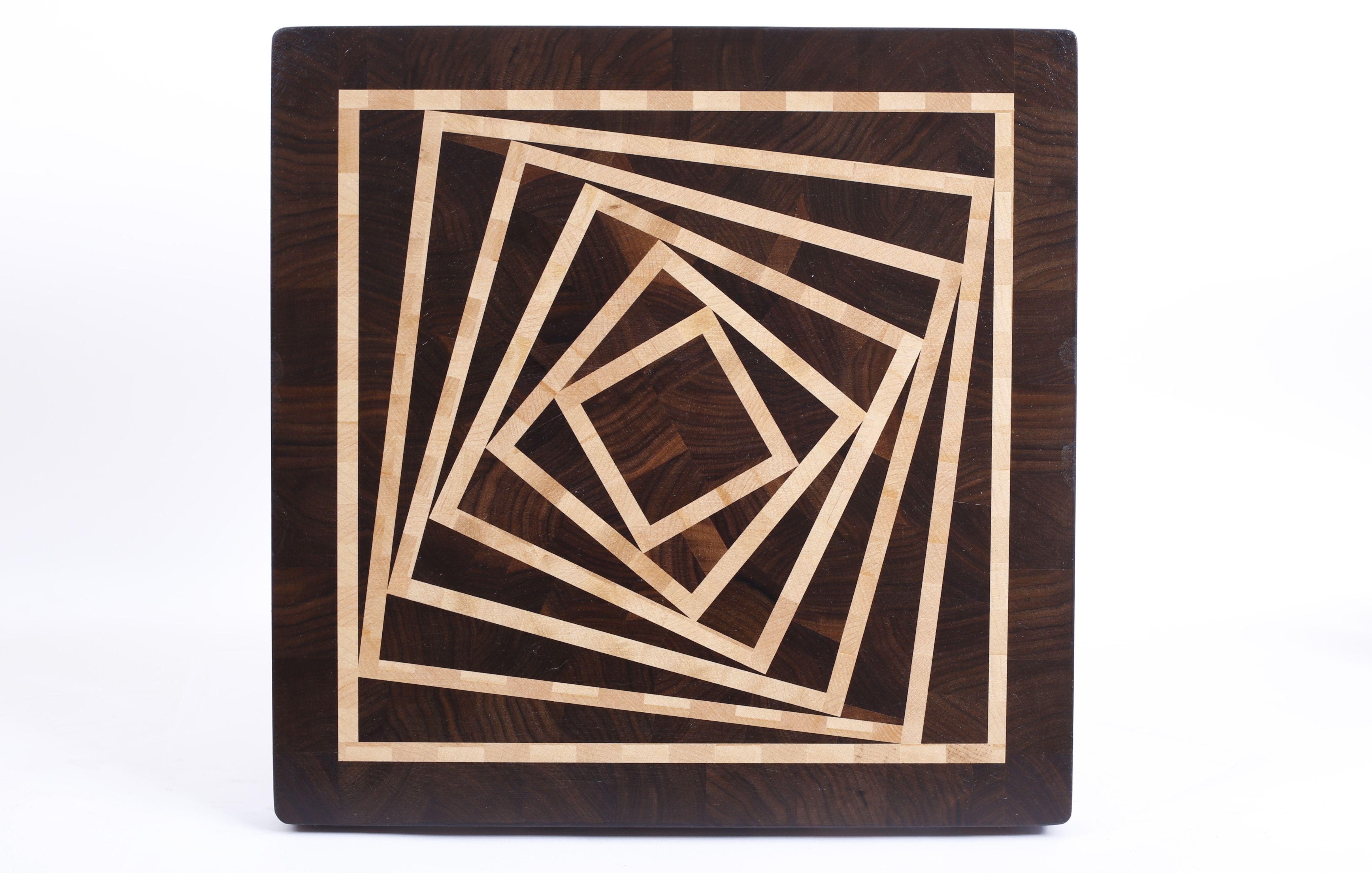 """Rotating Squares"" board | ""MTMWOOD"" end grain cutting ..."