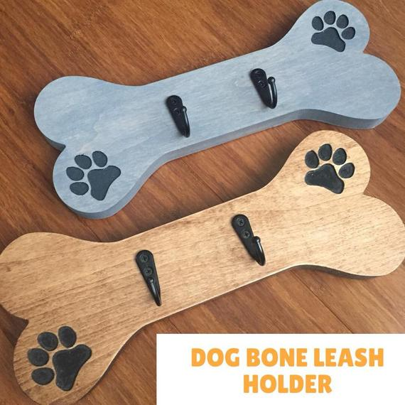 Dog Bone Leash Holder Dog Bones Animal Room Dog Signs