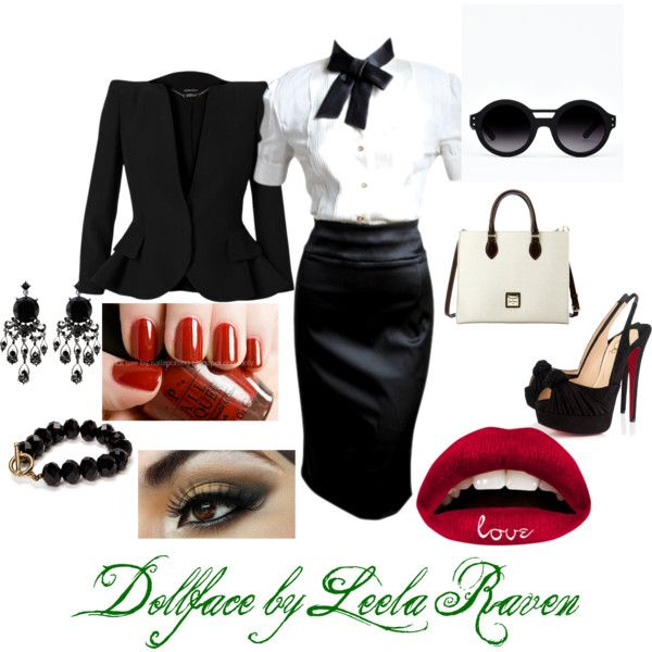 """""""Girl In a Suit"""" by dollfaceraven on Polyvore"""