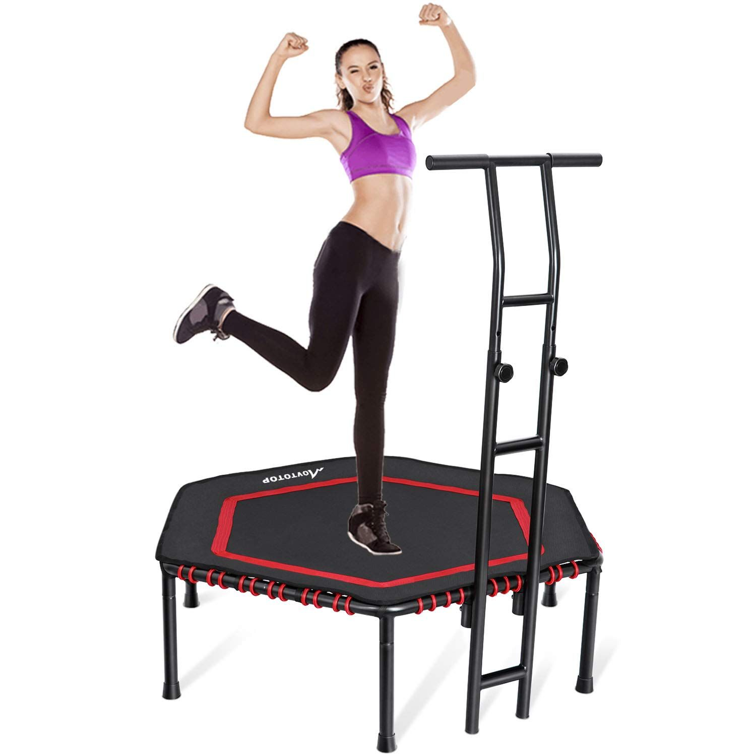 Movtotop indoor fitness trampoline folding 48 inch with