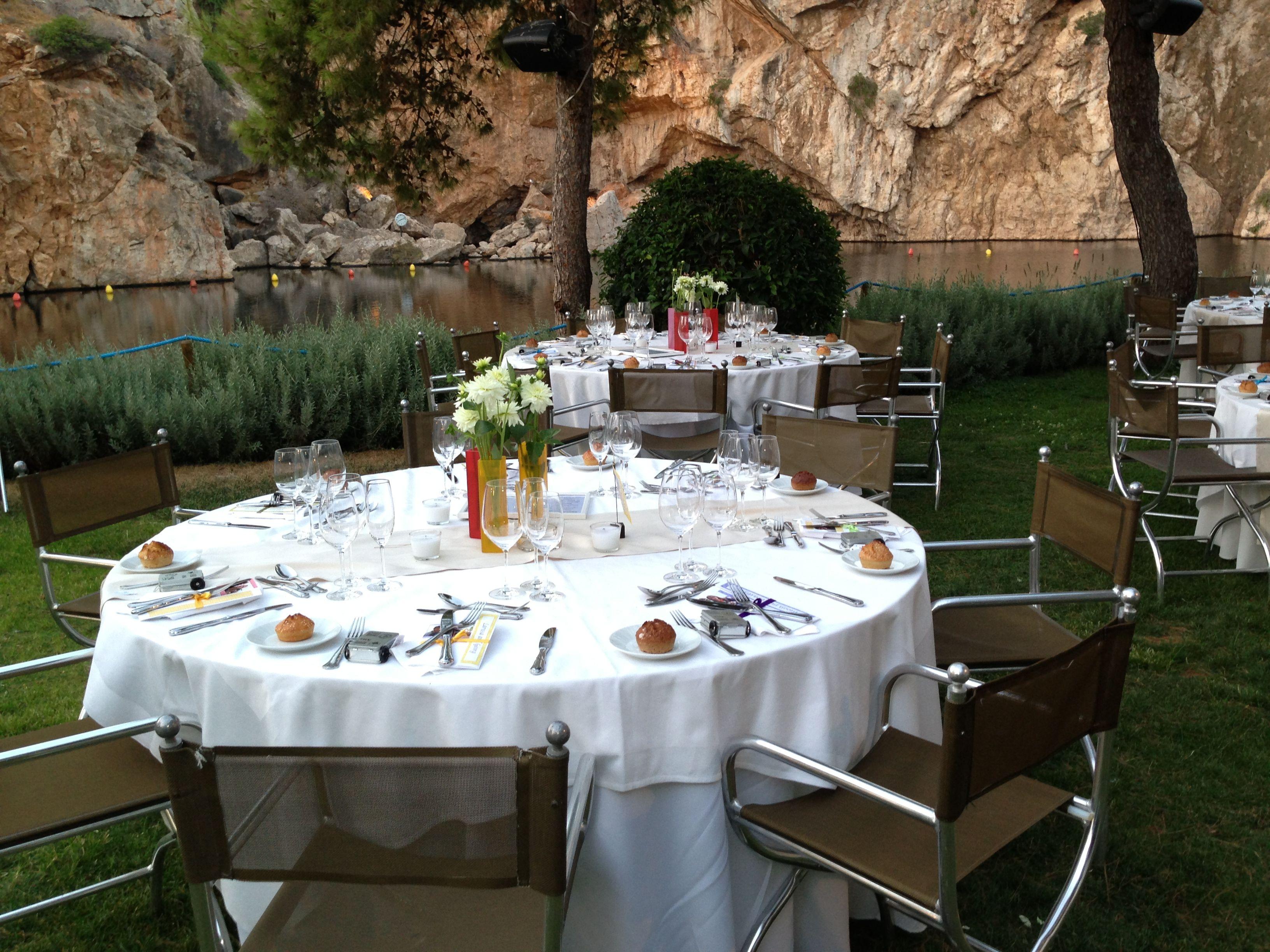 An elegant wedding reception set up in a lake in greece for a an elegant wedding reception set up in a lake in greece for a junglespirit Image collections