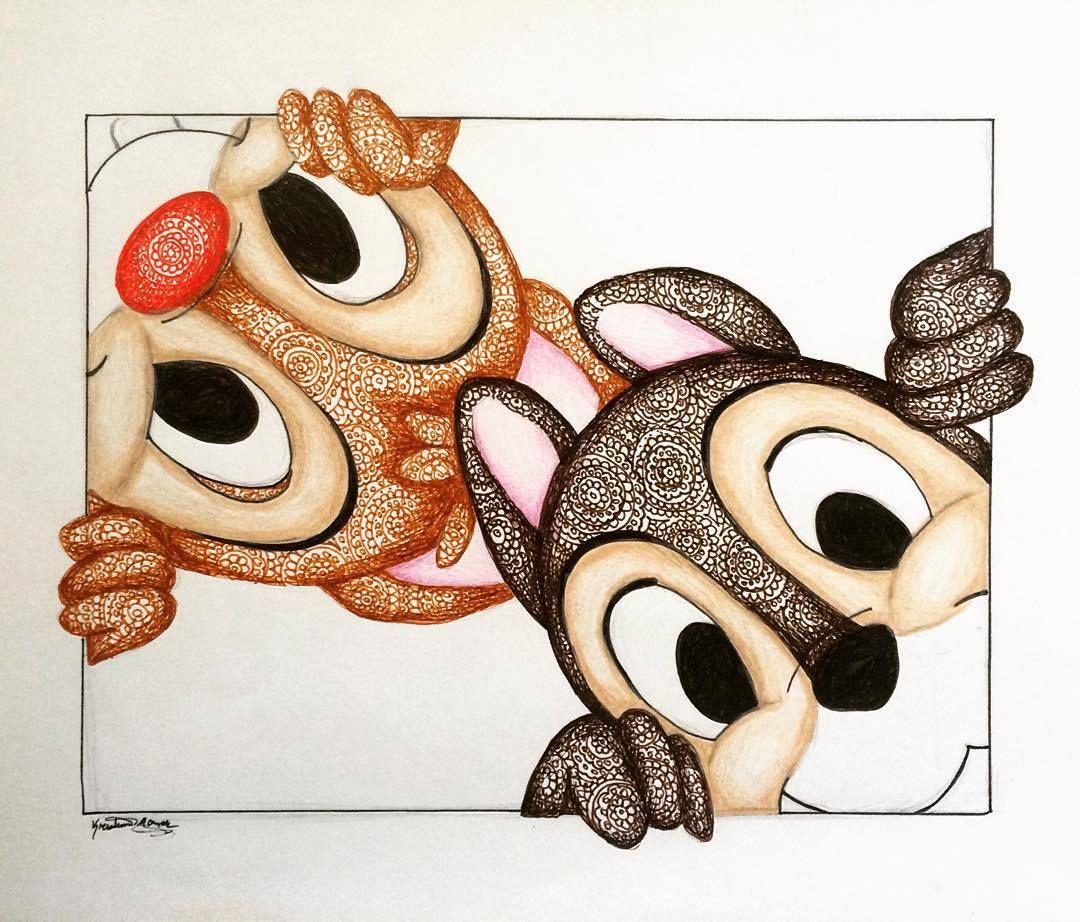 Tic et Tac | Disney | Pinterest | Boucles sans chaleur, Dessin et Dessins mignons