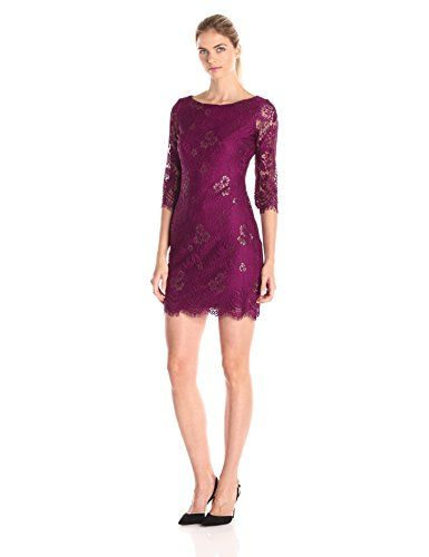Ivanka Trump Women's Lace Dress with 3/4 Sleeves