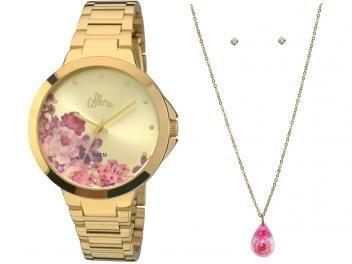 Kit Relógio Feminino Allora Par Perfeito - AL2035FAG K4 Analógico  Resistente à Água f3e3684793