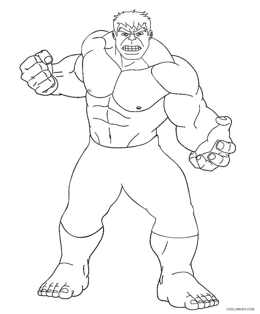 Free Printable Hulk Coloring Pages For Kids Cool2bkids Avengers