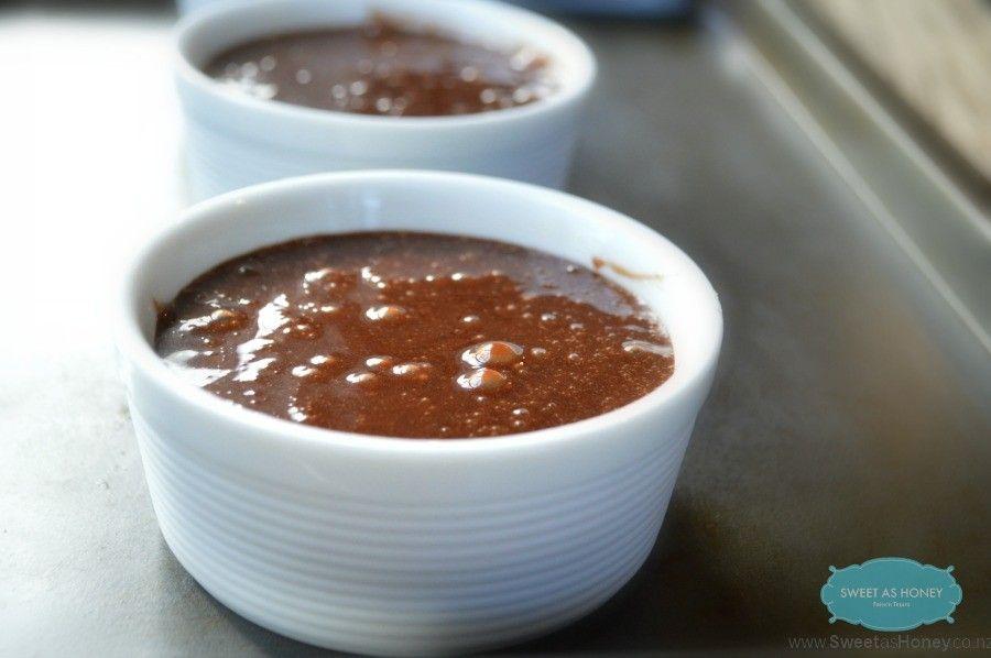 SugarFree + Gluten Free Chocolate Lava Cake before baking